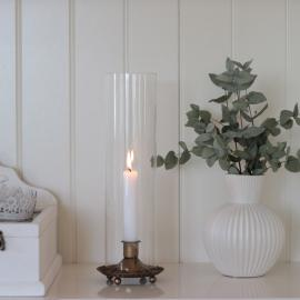 Lanterne Cylinder - guld brun , hemmetshjarta.dk
