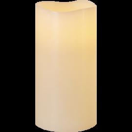 Batteridrevet Bloklys LED Big Elfenben 10x20cm , hemmetshjarta.dk