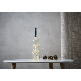 Lyskæde Dew Drop Batteridrevet kork/flaske Varmhvid 40 lys 200cm , hemmetshjarta.dk