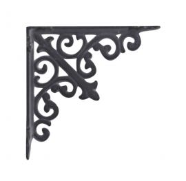 Hylde konsol Fransk lilje H15 / B15 cm antik grå , hemmetshjarta.dk