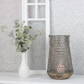 Lanterne Kira 33,5 cm - gyldenbrun , hemmetshjarta.dk