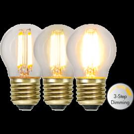 LED-Pære E27 Soft Glow G45 Dim 3-step , hemmetshjarta.dk