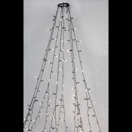 Juletræ skæde Udendørs EL Crispy Ice White Hvid 360 Lys 196cm , hemmetshjarta.dk