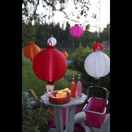 Solcelle papir lanterne Festival - Pink , hemmetshjarta.dk