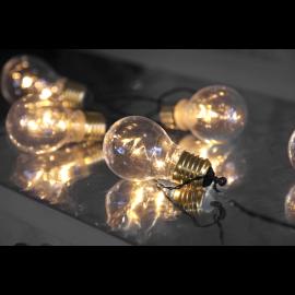 Lyskæde Batteridrevet Glow Udendørs Gul 5 Lys 100cm , hemmetshjarta.dk
