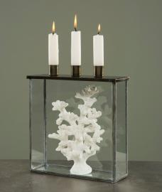 Glasbox med lysestage Burn 22x7x25cm , hemmetshjarta.dk
