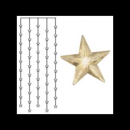 Dekorationskæde EL Lysgardin Star Varmhvid 50 Lys 90x200cm , hemmetshjarta.dk