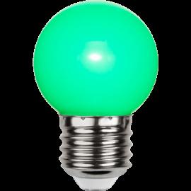 LED-Pære E27 Outdoor Lighting G45 Grøn , hemmetshjarta.dk