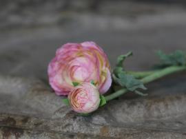 Fleur Ranunkel H40 cm rosa , hemmetshjarta.dk