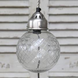 Lampe kugle med slibning Ø15 cm , hemmetshjarta.dk