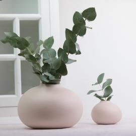 Vase Bullig 18 cm - Støvet rosa , hemmetshjarta.dk