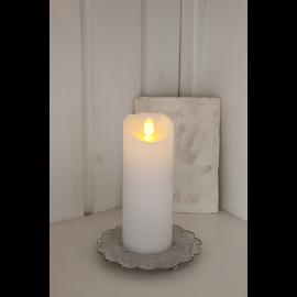 Batteridrevet Bloklys LED Glow Hvid 5,5x15cm , hemmetshjarta.dk