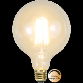 LED-Pære E27 Soft Glow G125 Dim , hemmetshjarta.dk