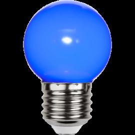 LED-Pære E27 Outdoor Lighting G45 Blå , hemmetshjarta.dk