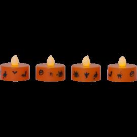 LED Fyrfadslys 4-pack Halloween , hemmetshjarta.dk
