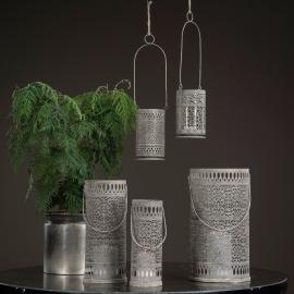 Lanterne / Cylinder - antikgrå 3-pack , hemmetshjarta.dk