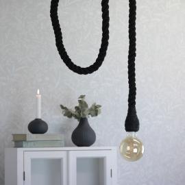 Lampe reb - sort , hemmetshjarta.dk