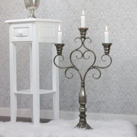 Lysestage Hjerte 60 cm - antik sølv , hemmetshjarta.dk