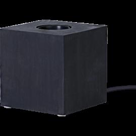 Lampeholder E27 Cube Sort 9x9 , hemmetshjarta.dk