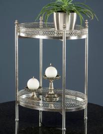 Spejlbord/Drink 65 cm - Antik sølv , hemmetshjarta.dk