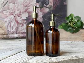 Flaske m. 2 pumper 1000 ml. H26/Ø9,5 cm mocca 1 st , hemmetshjarta.dk